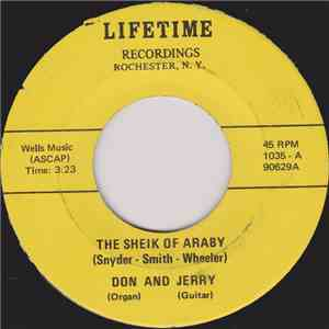 Don And Jerry  - The Sheik Of Araby / What Is This Thing Called Love? album